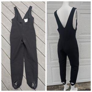 Vintage Black Overall Snowsuit Pants | Ski Suit